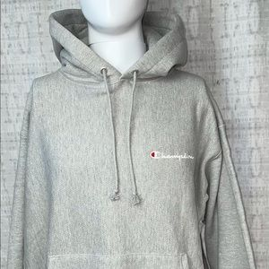 👀New Tags XL Champion Reverse Weave Gray Hoodie